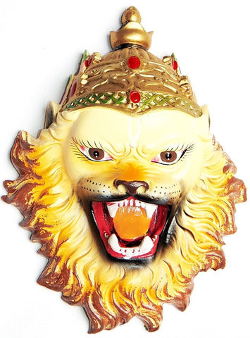 Sri Narsimha (Narasimha) face mask / wall hanging 7.5 inches - Devshoppe