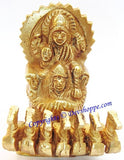 Surya Bhagwan (Sun god) idol in brass - Devshoppe - 1