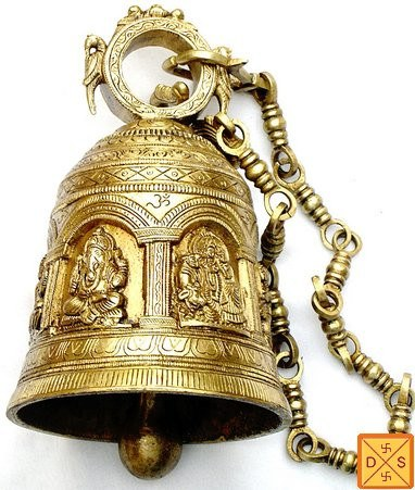 Temple bell with images of hindu gods and goddess - Design 2 - Devshoppe