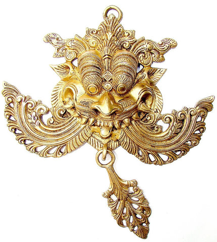Yali ( Vyala / Sarabham / Vidala ) face brass Door knocker - Devshoppe