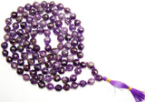 Amethyst high quality faceted beads mala for protection against psychic attacks and negative energy. - Devshoppe