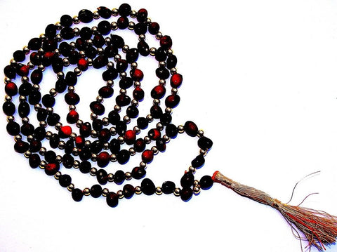Black Chirmi mala for Protection and Courage - Devshoppe