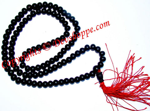 Black Ebony mala to increase Concentration and aid in Meditation - Devshoppe