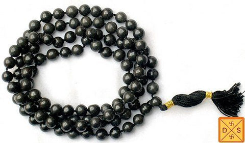 Black hakik (agate) mala for protection from evil eye , tantra attacks and black magic - Devshoppe