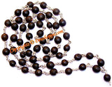 Black Vaijanti mala in German silver - Devshoppe