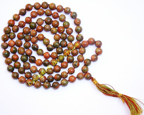 Bloodstone mala to bring strength of mind & confidence - Devshoppe