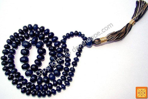 Blue Sapphire mala to remove Saturn's ill effects and for relief during Sade sati - Devshoppe