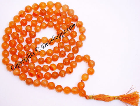 Carnelian mala for goodluck, comfort and protection - Devshoppe