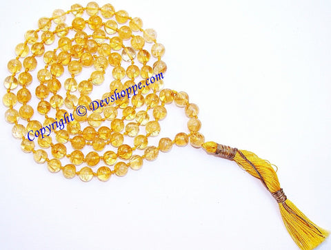 Citrine mala for undisturbed sleep and removal of fears - Devshoppe