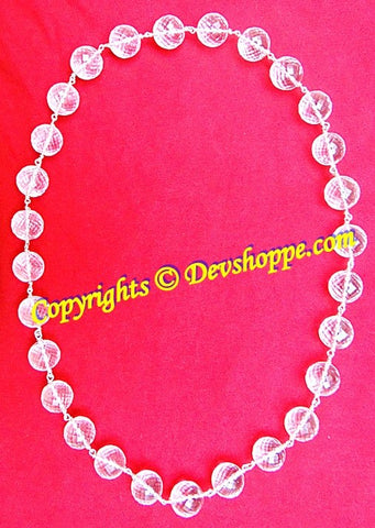 High quality Sphatik (Crystal) kantha in silver 27+1 beads - Devshoppe - 1