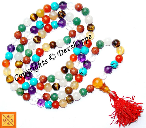 Dynamic Chakra prayer beads mala of excellent quality - Devshoppe