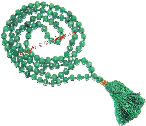 Emerald ( Panna )mala to remove the malefic effects of Planet Mercury (Budh) - Devshoppe