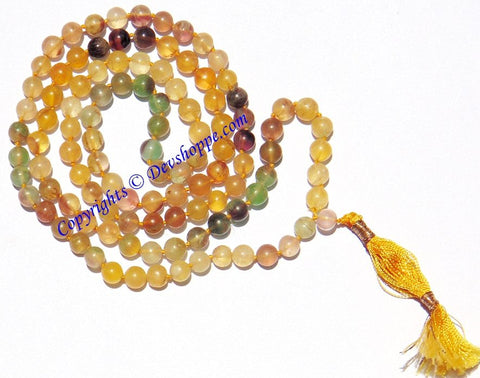 Fluorite mala to facilitate enhanced concentration and better judgements (Premium Quality) - Devshoppe - 1