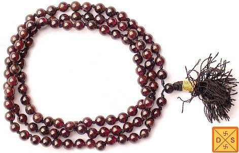 Garnet mala to enhance body strength and removing negative energy - Devshoppe