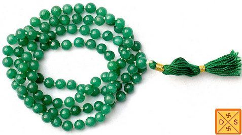 Green hakik (agate)mala to get rid of negative energy and negative thoughts - Devshoppe