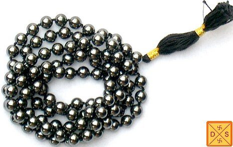 Hematite mala to improve memory, mental focus and concentration - Devshoppe