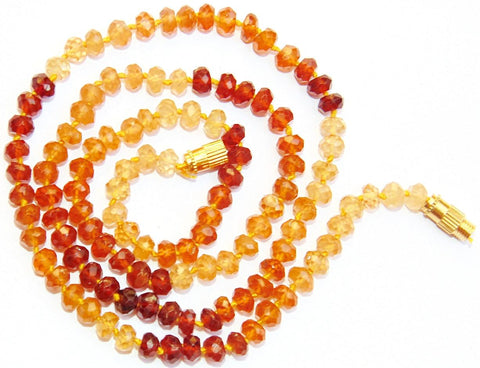Hessonite mala (Gomed) for success and getting rid of enemies - Devshoppe
