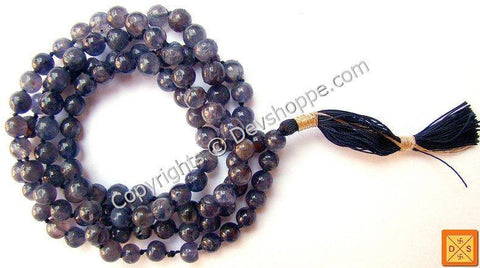 Iolite mala for Spiritual growth and healing - Devshoppe