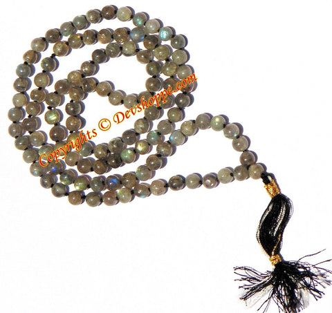 Labradorite mala to reduce anxiety and stress (Ordinary Quality) - Devshoppe - 1