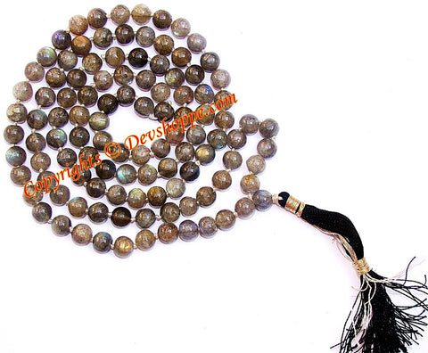 Labradorite mala to reduce anxiety and stress (Premium Quality) - Devshoppe - 1