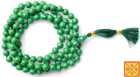 Malachite mala for protection against psychic attacks and others negativity - Devshoppe