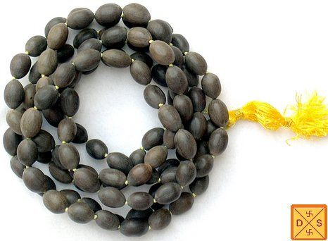 Kamal gatta (lotus seed) mala for Mahalakshmi japas and sadhana - Ordinary quality - Devshoppe
