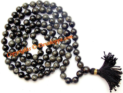 Precious Cat's eye mala for Protective energy and harmonising planet Ketu - Devshoppe