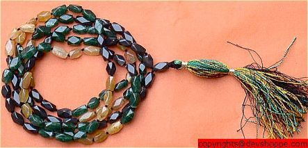 Precious Mixed colored beads Onyx mala - Devshoppe