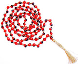 Red Chirmi mala for wealth and prosperity - Devshoppe