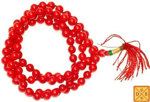 Red Coral mala for energy and prosperity - Devshoppe