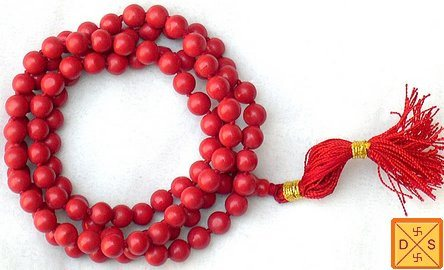 Red hakik (agate)mala to get rid of Blood related problems and skin ailments - Devshoppe