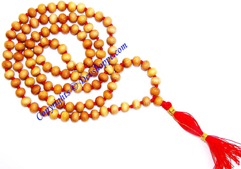 Sandalwood mala to cure skin related problems and cooling - Devshoppe