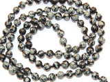 Snowflake Obsidian mala to get rid of Negative energies and for positivity - Devshoppe - 2