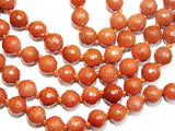 Sunstone high quality faceted beads mala for Good fortune and protection - Devshoppe - 2