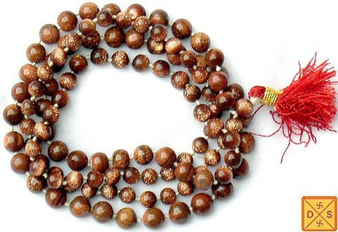 Sunstone mala to dispel fear and stress (Ordinary Quality) - Devshoppe