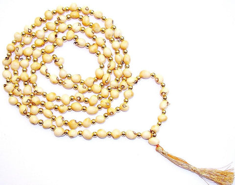 White Chirmi mala for Success in Sadhana and Higher education - Devshoppe