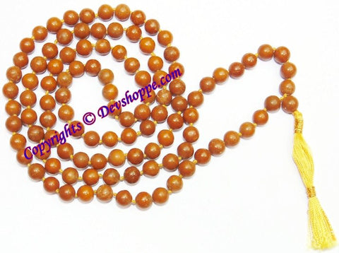 Yellow Jasper mala to shield you against negativity and depression - Devshoppe - 1