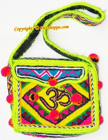 Aum (Om) woolen Shoulder (jhola) bag ~ Design 3 - Devshoppe