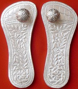 Beautiful Silver Charan Padukas for puja - Devshoppe