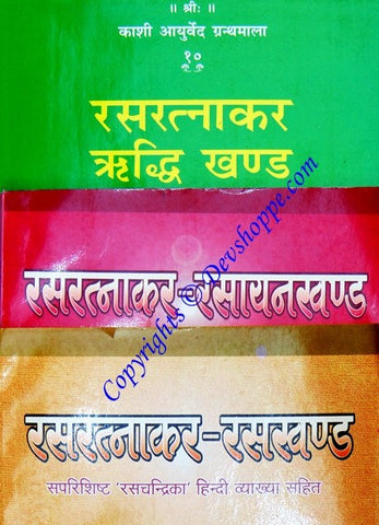 Ras Ratnakar ( 3 volumes ) - Hindi book on alchemy - Devshoppe