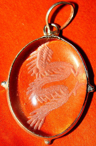 Feng Shui Dragon pendant in Crystal - Devshoppe