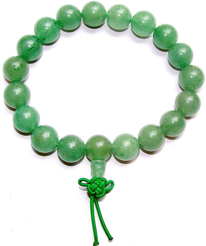 Green Aventurine Power bracelet for Good fortune and luck. - Devshoppe