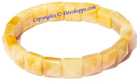 Pyramid shaped Yellow Agate bracelet - Devshoppe