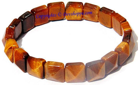 Tiger eye Bracelet of Pyramid shaped beads - Devshoppe