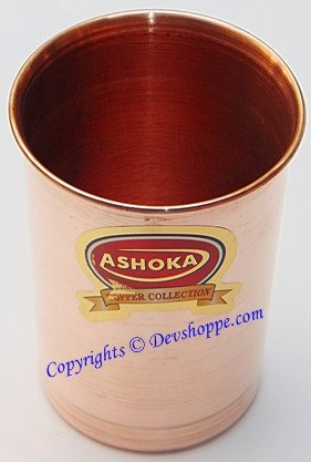 High Quality pure Copper glass for ayurveda healing - Devshoppe