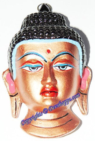 Buddha face metal wall hanging - Devshoppe