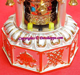 Solar Powered Pagoda style Tibetan Prayer wheel with Mantra chanting - Devshoppe - 2