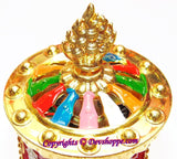 Tibetan Solar powered Wisdom flame Prayer wheel with Mantra Chanting - Devshoppe - 2