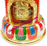 Tibetan Solar powered Wisdom flame Prayer wheel with Mantra Chanting - Devshoppe - 3