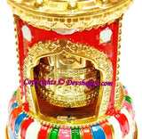 Tibetan Solar powered Wisdom flame Prayer wheel with Mantra Chanting - Devshoppe - 4